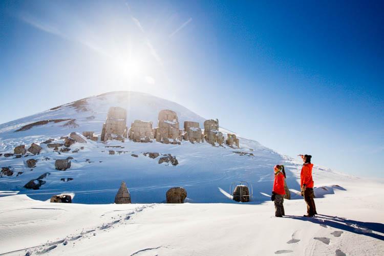 Hiking Mt Nemrut during Winter